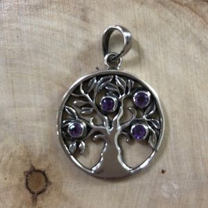 Jewelry - Sterling Silver Family Tree Pendant